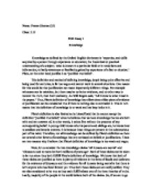 Example essay definition