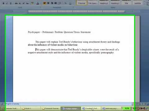 Writing a masters thesis in psychology